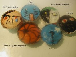 The Akatsuki cupcakes speak ll by DaydreamingCow