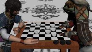Friendly game of checkers by 4moretus