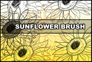 Sunflower brush by Faeth-design