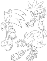 :Sonic:Shadow:Silver: by Fly-Sky-High