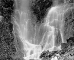 Waterfall black and white by Robby-Robert