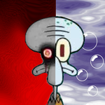 The Two Faces of Squidward by RiboZurai