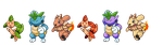 Nymphare, Kappunch and Panram Sprites by Phatmon