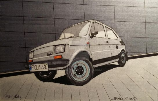 Fiat 126p by m-AES-tro