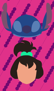 Stitch and Ai Phone Wallpaper (Variant) by GrandMetaCross