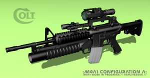 M4A1 Texture  WIP by kehlan