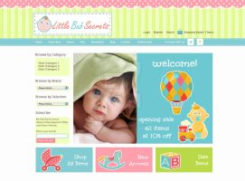 Web Design: Little Bub Secrets Baby Store by ab6421