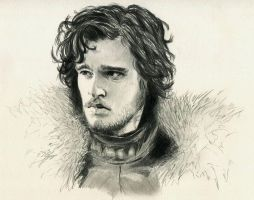 Jon Snow Game of Thrones by ninjason57
