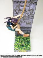 Tomb Raider papercraft vignette deadly spikes by ninjatoespapercraft