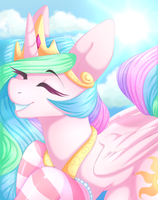 Celestia's Solstice {Collab with PrincessChyuu} by FluffyMaiden