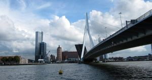 Kop van Zuid and Erasmusbrug by webworm