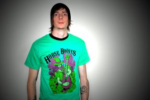 Horse Bodies Shirt Kelly Green by Zombri