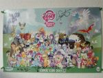 My Little Pony Comic-Con 2011 Poster -FULLY SIGNED by Closer-To-The-Sun