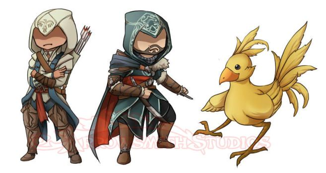 Assassin Stickers by ladyarrowsmith