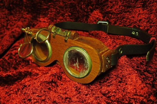 Steampunk Woodworker Goggles by Fandragon
