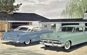 age of chrome and fins : 1954 Ford by Peterhoff3