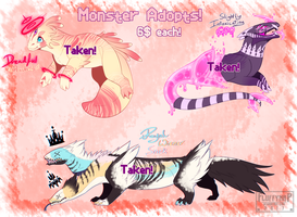Pastel Monster Adopts [CLOSED!] by FluffyNap