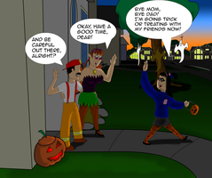 Candygirl leaves to go Trick or Treating by garageman45