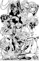 Shattered Realm GN cvr Inked by DamageArts