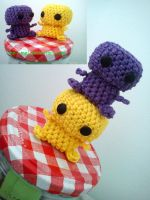 little amigurumi monsters by mel--mel