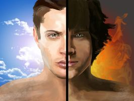 Sam and Dean - Darkness and Light by miscbri