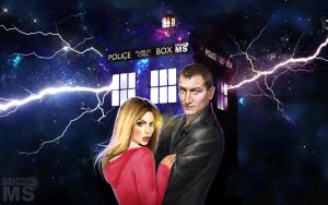 9th Doctor and Rose Tyler wallpaper by SoniaMatas