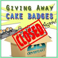 *NEW* Giving Away Cake Badges by Kiwikku