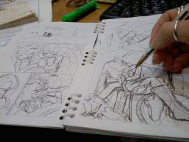 .:Choice Comic:. Sketching by cArDoNaNaVaS