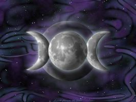 Triple Goddess Background by Nilessa