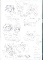 Scribbling Mine And Nicktoons Things by Kittychan2005