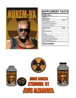 Duke Nukem Steroid label by emptysamurai