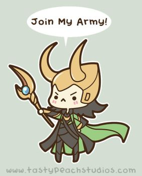 Loki: Join My Army! by MoogleGurl
