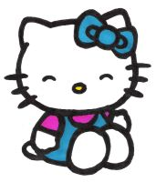 Hello Kitty Colored by disneyprinceloki