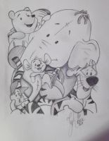 Winnie Pooh and Friends by xCyhx