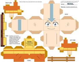 Avatar Aang Cubeecraft by mauldmm