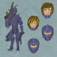 Cage's Combat Armor by improbablesage