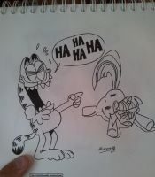 Garfield And Twilight (in progress) by 666inflames666