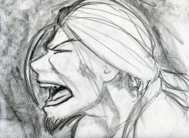 Self Portrait - Yell - Anger by GreatGrendel