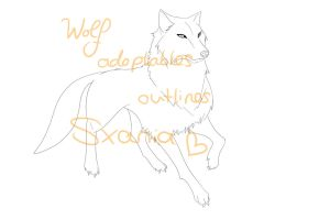 Wolf Adoptables Outlines by Sxania