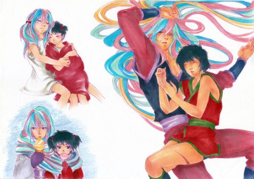 [Toriko]Sunny and Rin by rex0310