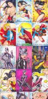 Women of Legend Sketch Cards by SaviorsSon