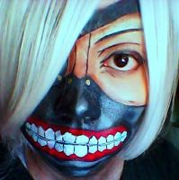 Kaneki Ken Mask facepaint by blackyuna