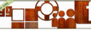 Glossy Waxed Wood Icons Social by Doru94