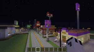 A normal street in my minecraft town by BowserHusky