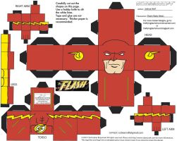 DC SH16: New Wally Flash Cubee by TheFlyingDachshund