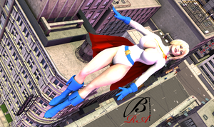 PowerGirl - Flying by ManbeastMan