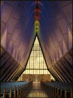Inside the USAFA Chapel by decideroffate