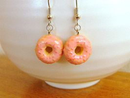 Strawberry Doughnuts Earrings by souzoucreations