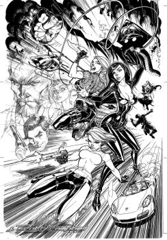 Danger Girl Poster Inks by J-Scott-Campbell