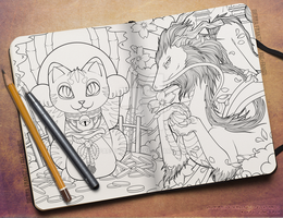 Preview: Coloring Book by Fae-Fangs